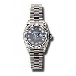 Rolex Lady-Datejust Black mop/Diamond President 179179