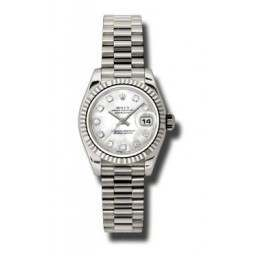 Rolex Lady-Datejust White mop/Diamond President 179179