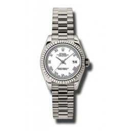 Rolex Lady-Datejust White Roman President 179179