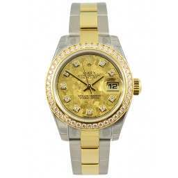 Rolex Lady-Datejust Yellow Gold Crystals/Diamond Oyster 179383