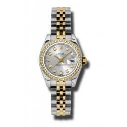 Rolex Lady-Datejust Silver/Diamond Jubilee 179383