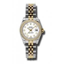 Rolex Lady-Datejust White/Diamond Jubilee 179383
