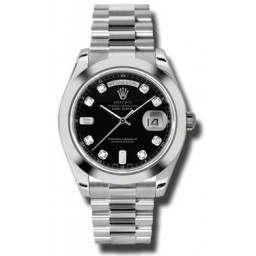 Rolex Day-Date II Black/Diamond President 218206