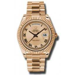 Rolex Day-Date II Pink Roman Concentric President 218235