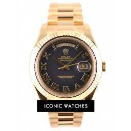 Rolex Day-Date II Black Arabic Dial - 218238