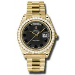 Rolex Day-Date II Black Arab Concentric President 218348