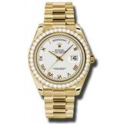 Rolex Day-Date II White Roman President 218348