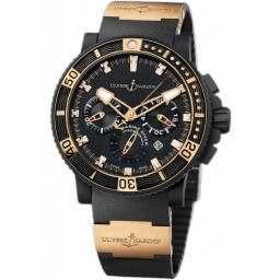 Ulysse Nardin Maxi Marine Diver Black Sea Chronograph 353-90-3