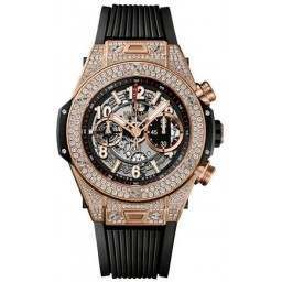 Hublot Unico King Gold Pave 411.OX.1180.RX.1704
