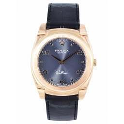 Rolex Cellini 18ct Rose Gold Black Dial - 5330/5
