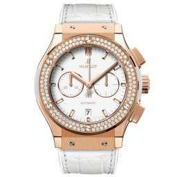 Hublot Chronograph King Gold White Diamonds 541.OE.2080.LR.1104