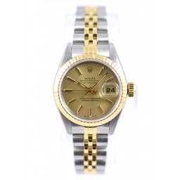 Rolex Lady DateJust Champagne Baton - 69173