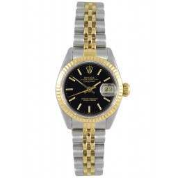 Rolex Lady Datejust after set Black index Jubilee - 69173