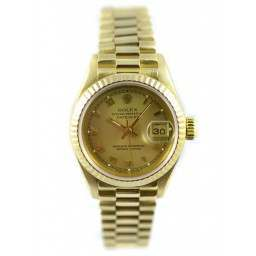 Ladies 18ct Yellow Gold Rolex Datejust 69178