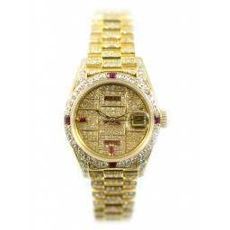 Diamond and Ruby covered Lady DateJust President 69178