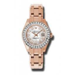 Rolex Pearlmaster Lady Everose Gold White mop/diamond 80285