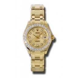 Rolex Lady Pearlmaster Champagne Jub/diamond 80298