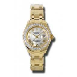 Rolex Lady Pearlmaster White mop Roman 80298