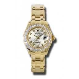Rolex Lady Pearlmaster Silver Jub/diamond 80298