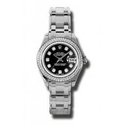 Rolex Lady Pearlmaster Black/diamond 80319