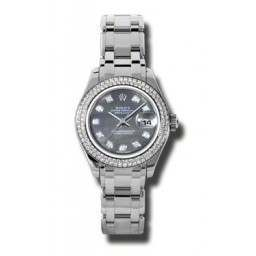 Rolex Lady Pearlmaster Black mop/diamond 80319