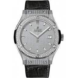 Hublot Diamond Pave Dial Titanium 521.NX.9010.LR.1704