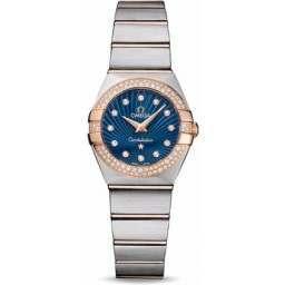 Omega Constellation Brushed Quartz Diamonds 123.25.24.60.53.001