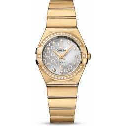 Omega Constellation Brushed Quartz Diamonds 123.55.27.60.52.002
