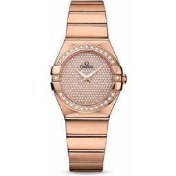 Omega Constellation Brushed Quartz Diamonds 123.55.27.60.99.004