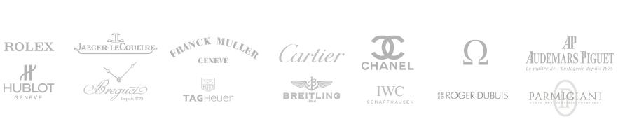Various luxury watch brand logos