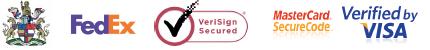 Fedex, Mastercard, Verisign and Visa logos