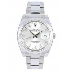 Rolex Date Silver/index Oyster 115200