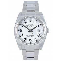 Rolex Date White/Roman Oyster 115200