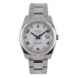 Rolex Date White Arab 5 diamond Oyster 115234
