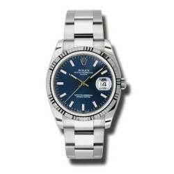 Rolex Date Blue/index Oyster 115234
