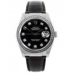 Rolex Datejust Black Diamond Dial/ Diamond Bezel 116189