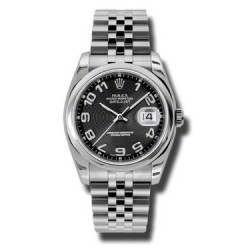 Rolex Datejust Black Arab Concentric Jubilee 116200