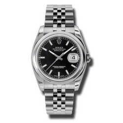 Rolex Datejust Black/index Jubilee 116200