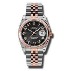 Rolex Datejust Black Arab Concentric Jubilee 116201