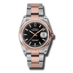 Rolex Datejust Black/index Oyster 116201