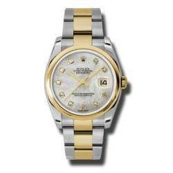 Rolex Datejust White mop/Diamond Oyster 116203