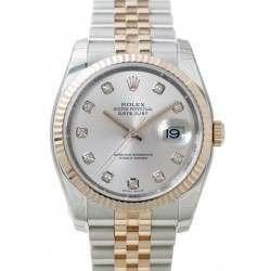 Rolex Datejust Silver/Diamond Jubilee 116231