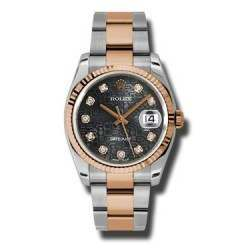 Rolex Datejust Black Jub/Diamond Oyster 116231