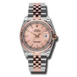 Rolex Datejust Pink/index Jubilee 116231