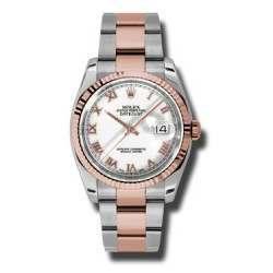Rolex Datejust White Roman Oyster 116231