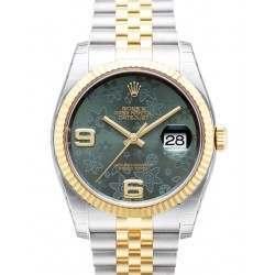 Rolex Datejust Green Arab Jubilee 116233