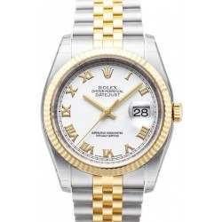Fantastic condition Rolex Date-Just - 116233 White Roman Dial