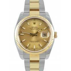 Rolex Datejust Champagne/index Oyster 36mm 116233