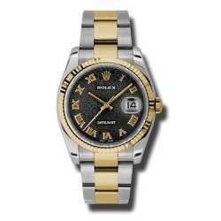 Rolex Datejust Black Jub Roman Oyster 116233