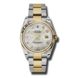 Rolex Datejust White mop/Diamond Oyster 116233